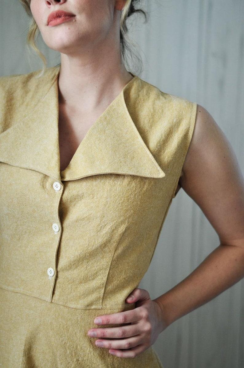 Harlow Dress in Linen  Summer Dresses For women  yellow image 0