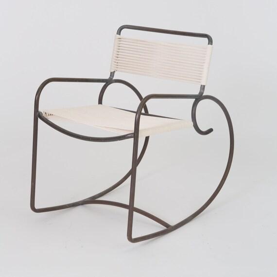 Superb Walter Lamb Rocking Chair For Brown Jordan 2 Available Inzonedesignstudio Interior Chair Design Inzonedesignstudiocom