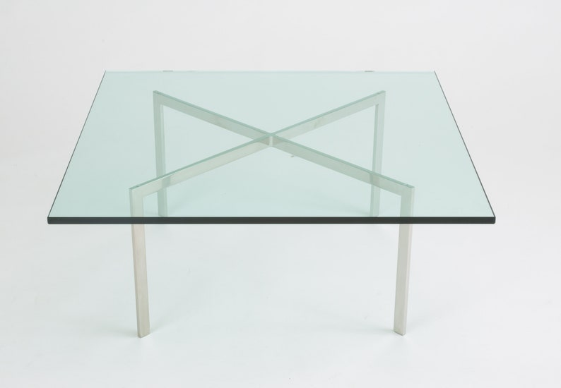 Barcelona Coffee Table By Ludwig Mies Van Der Rohe For Knoll Etsy
