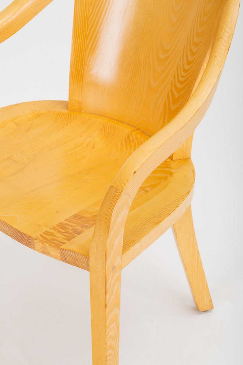 Six Ward Bennett Brickell Solid Ash University Dining Office Chair Mid Century Antiques Periods & Styles