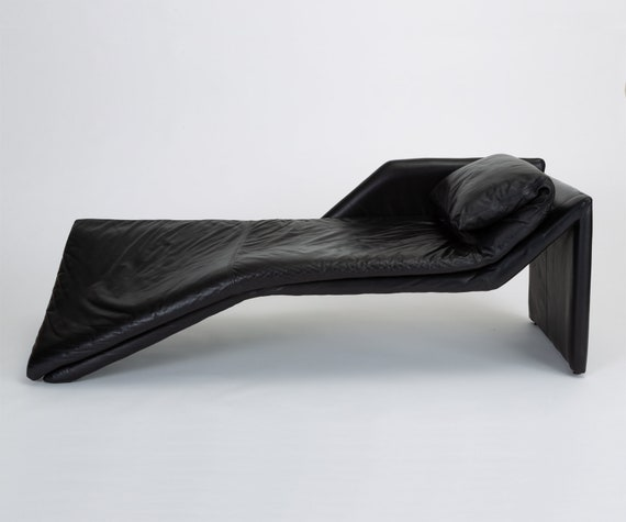 Tremendous 1980S Leather Chaise Lounge By Preview Uwap Interior Chair Design Uwaporg