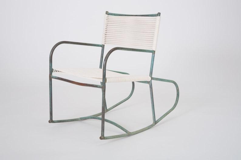 Magnificent Early Model Walter Lamb Patio Rocking Chair Inzonedesignstudio Interior Chair Design Inzonedesignstudiocom