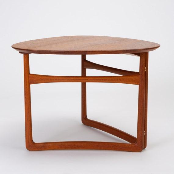 Pleasing Trilateral Folding Side Table By Peter Hvidt And Orla Molgaard Nielsen Ncnpc Chair Design For Home Ncnpcorg