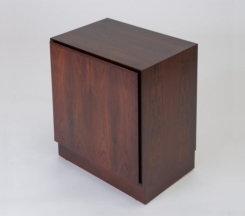 Post-1950 Freestanding 1970s Danish Mid Century Modern Rosewood Cabinet Omann Jun Vintage