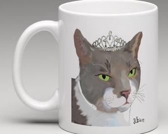 Princess Cat mug (free delivery)