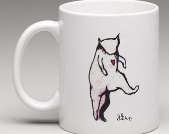 Cat dancing mug