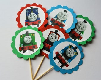 photograph relating to Free Printable Thomas the Train Cup Cake Toppers titled Prepare cupcake topper Etsy