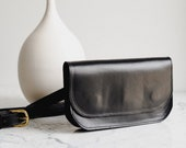Black Leather Fanny Pack, Leather Fanny Pack,Black Fanny Pack, Gifts for Her,Best Friend Gift,Gifts for Girlfriend, Travel Bag,Crossbody Bag