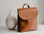 Mini Brown Leather Backpack,Mini Backpack,Leather Backpack,Backpack,Minimalist Backpack,Travel Backpack,Leather Bag,Girlfriend Gift,