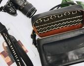 DSLR Black Leather Camera Bag,Black Camera Bag,Black Camera Strap,Black Leather,Black Travel Bag, Camera Bag,Travel Gifts for Photographers