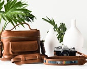Travel Set, Leather Camera Bag, Leather Camera Strap, Women Camera Bag, DSLR Camera Bag, Camera Case, Photography Gifts