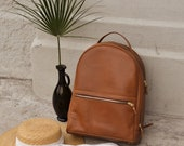 Women's Brown Leather Backpack,Leather Laptop Bag,Leather Backpack Women,Large Leather Backpack,School Backpack, Travel Backpack