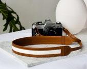 Tan Brown Leather Strap, DSLR Camera Strap, Nikon Strap, Photographer Gifts, Womens Camera Strap, Nikon Camera Strap