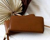 Womens Leather Travel Wallet,Brown Leather Wallet Women,Travel Wallet, Passport Wallet,Minimalist Wallet,Girlfriend Gift,Slim Wallet,