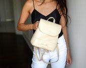 Mini Nude Leather Backpack,Nude Mini Backpack,Nude Leather Backpack, Nude Backpack,Minimalist Backpack,Travel Backpack,Girlfriend Gift,