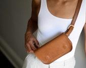 Brown Leather Belt Bag, Leather Belt Bag, Brown Belt Bag,Belt Bag, Vintage Belt Bag, Small Bag,Gifts for Her,Travel Bag,Crossbody Bag,