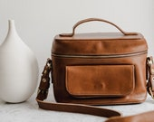 Womens Brown Tan Leather Camera Bag, DSLR Leather Camera Bag, DLSR Leather Travel Bag,DSLR Camera Bag,Vintage Camera Bag,Photographer Gift