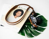 Brown Leather Camera Strap,Photography Gifts,Photography,DSLR Camera Strap,Nikon Strap,Gift for her,Vintage Camera Strap,Womens Camera Strap