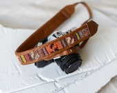 Embroidered DSLR Camera Strap,Embroidered Camera Strap,DSLR Strap,Camera Strap,Leather Camera Strap,Custom Camera Strap,Photographer Gift