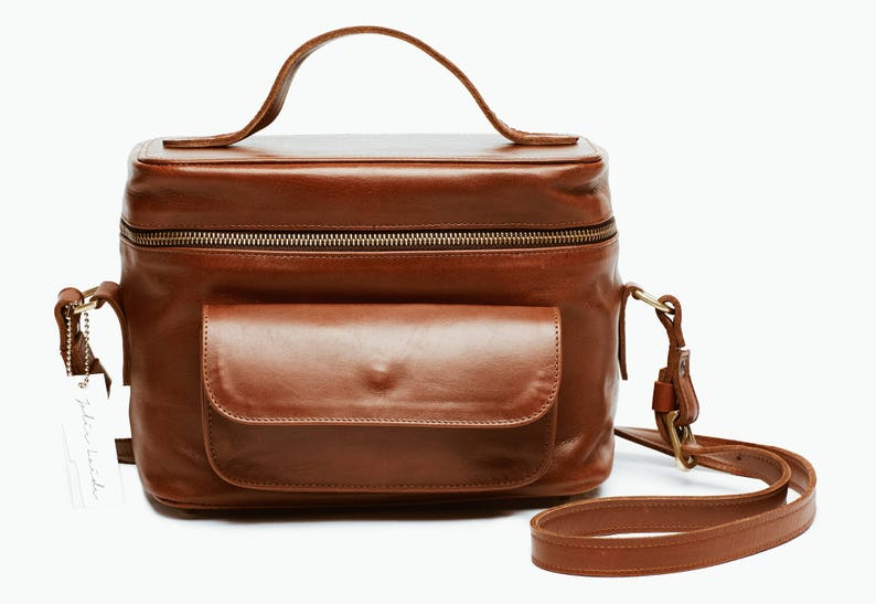 584449c54a Womens Brown Tan Leather Camera Bag DSLR Leather Camera Bag