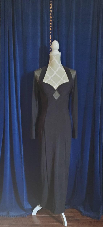 1990s sheer vampy black dress