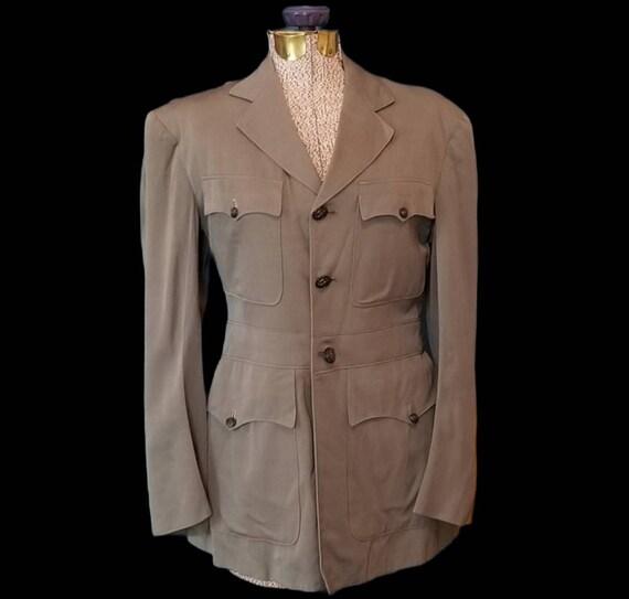 WW2 naval officers grey service blazer tailored ja