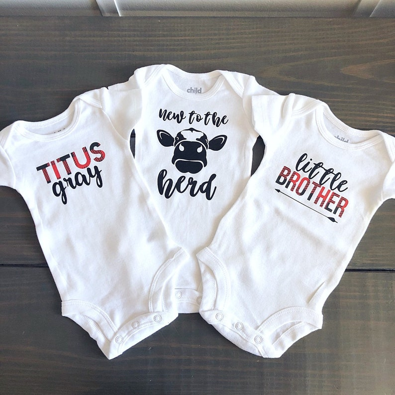 Custom Buffalo Plaid baby boy onesie Onesie newborn photo ...