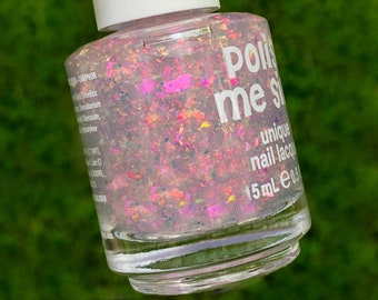004a43d4801 Fireworks: FLAKIE Topcoats Multi-Color Shifting Polish- Glitter Nail  Polish/Indie Lacquer/ Polish Me Silly--UNICORNGLOWCOLL--