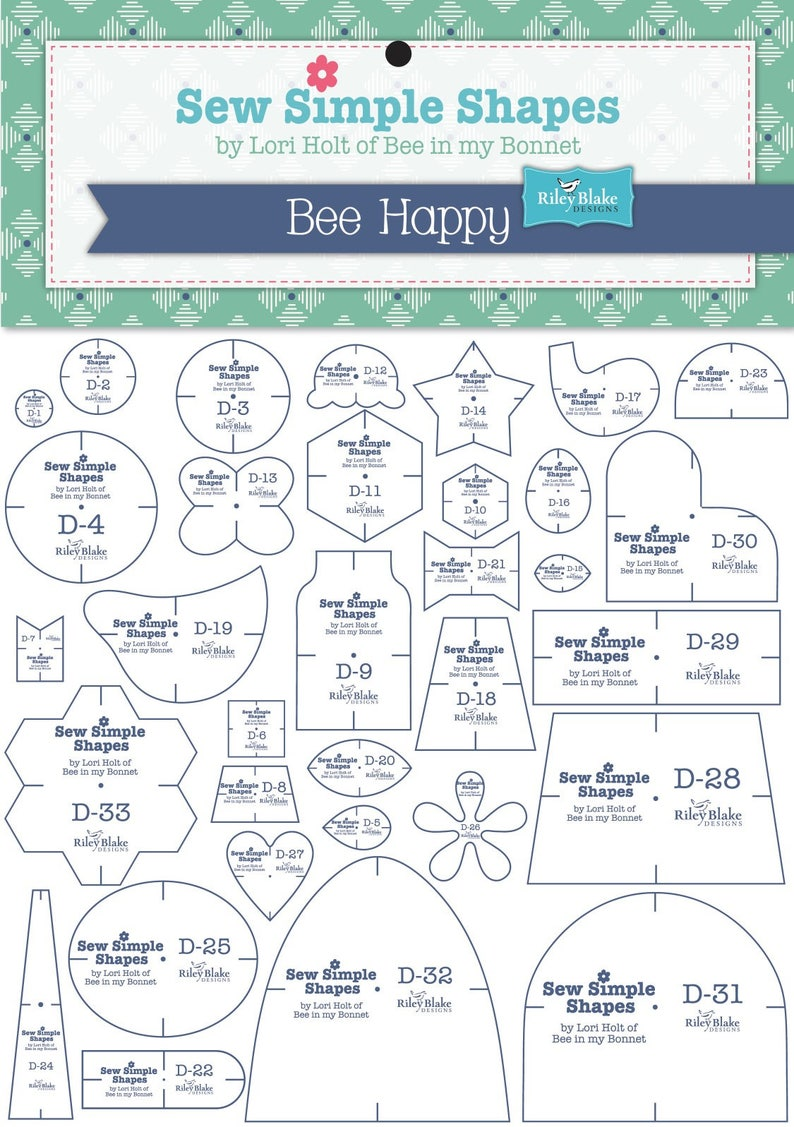 Bee Happy Sew Simple Shapes image 0