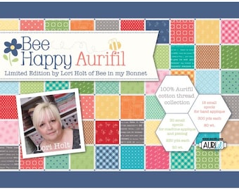 Bee Happy Aurifil Thread Collection - Limited Edition