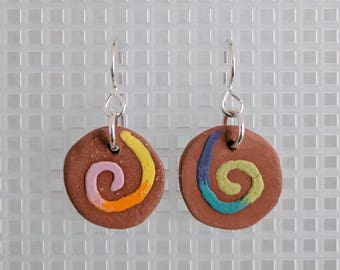 Swirl Ceramic Earrings