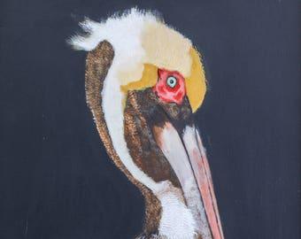 Brown Pelican, Louisiana State Bird, Print of Original Painting