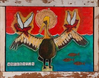 "Louisiana Pelican Rising Print, ""Ascension"""