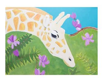 Giraffe Art Print of Original Painting