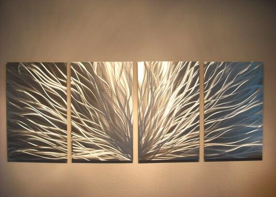 Metal Wall Art Decor Abstract Aluminum Contemporary Modern | Etsy