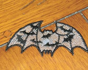 Embroidered Magnet - Halloween Bats