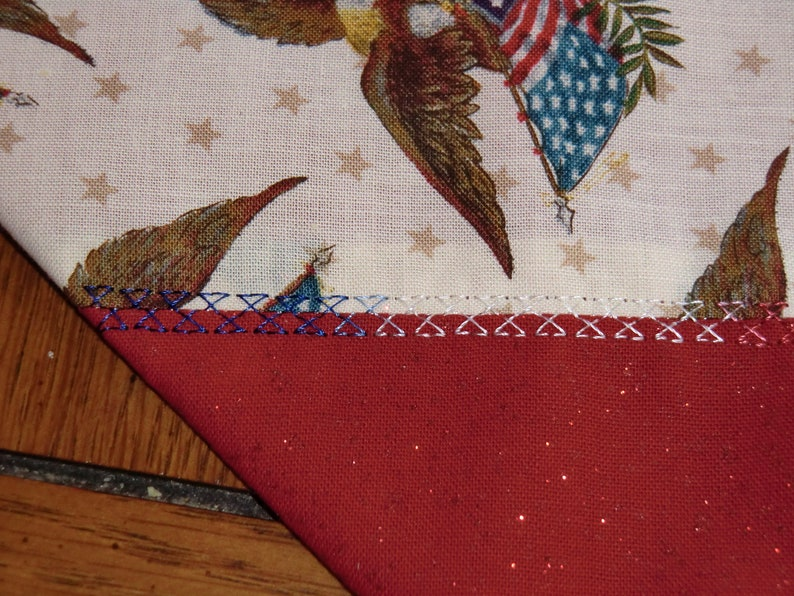4th of July Table Runner Eagles /& Flags