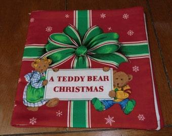 A Teddy Bear Christmas - Fabric/Cloth Book