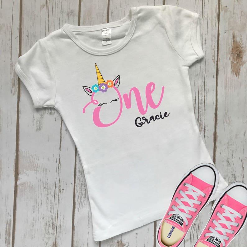 781eef7410c One Birthday Shirt Unicorn Birthday One Shirt Girl One   Etsy