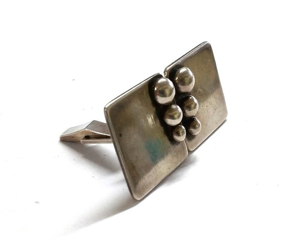 Mid Century Modern Sterling Silver Cufflinks