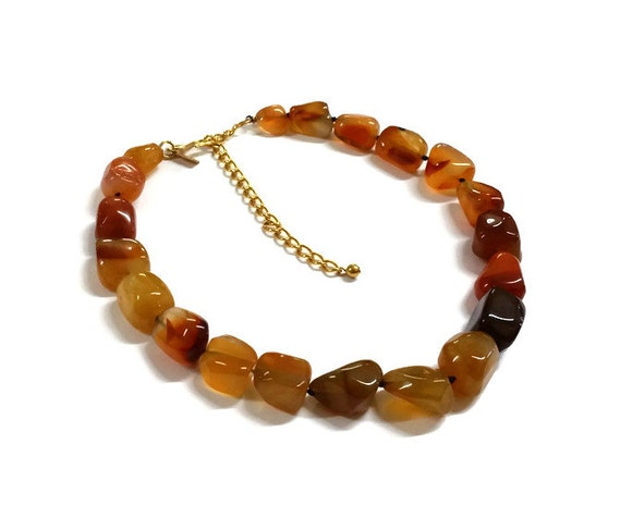 Kenneth Jay Lane Agate Stone Necklace