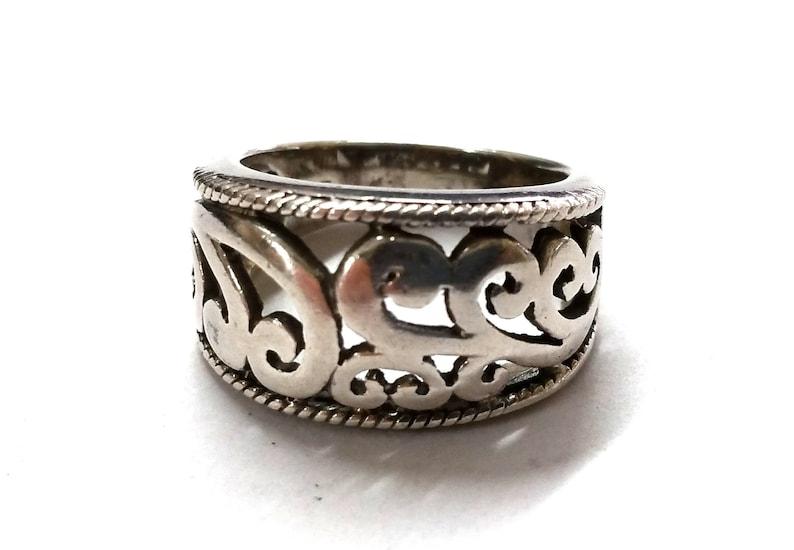 6 12 Sterling Silver Filigree Ring Sz