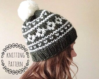 Arctic Circle Toque, Knitting Pattern, Fair Isle, Fair Isle Knit Hat, Knit Hat, Knit Hat Pattern, Pattern, Knit Beanie Pattern
