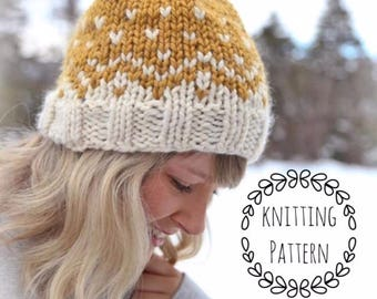 Mountain Toque, Knitting Pattern, Fair Isle, Fair Isle Knit Hat, Chunky Fair Isle, Knit Hat, Knit Hat Pattern, Pattern, Knit Beanie Pattern