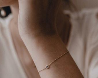 Chain bracelet 18ct gold and rose cut diamond