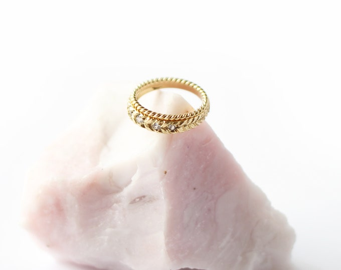 Josephine's eternity band 5 white sapphire - 18 ct gold