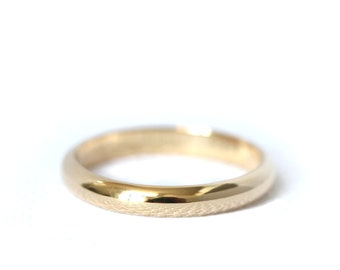 Wedding band 3mm 18ct gold - for him and her - yellow, rose and white palladied gold