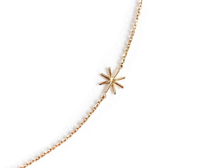 18 ct gold star necklace  - Orion - Cocteau inspiration - 18 ct rose gold - yellow gold