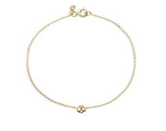 Skull chain bracelet memento mori style 18ct gold