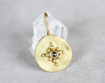 Pendant Dune 18ct gold and rose cut diamond